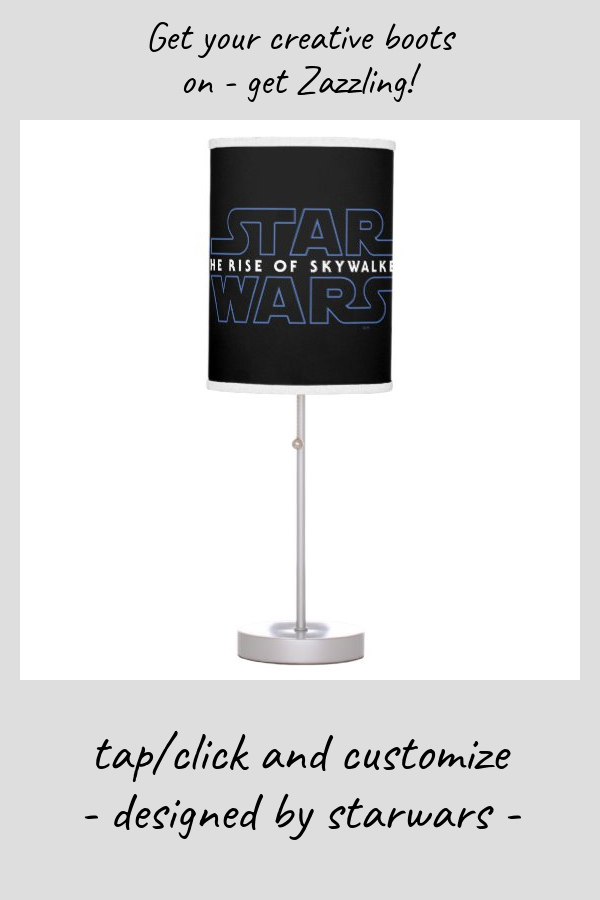 Star Wars The Rise Of Skywalker Logo Table Lamp Zazzle Com Star Wars Jedi Powers Table Lamp