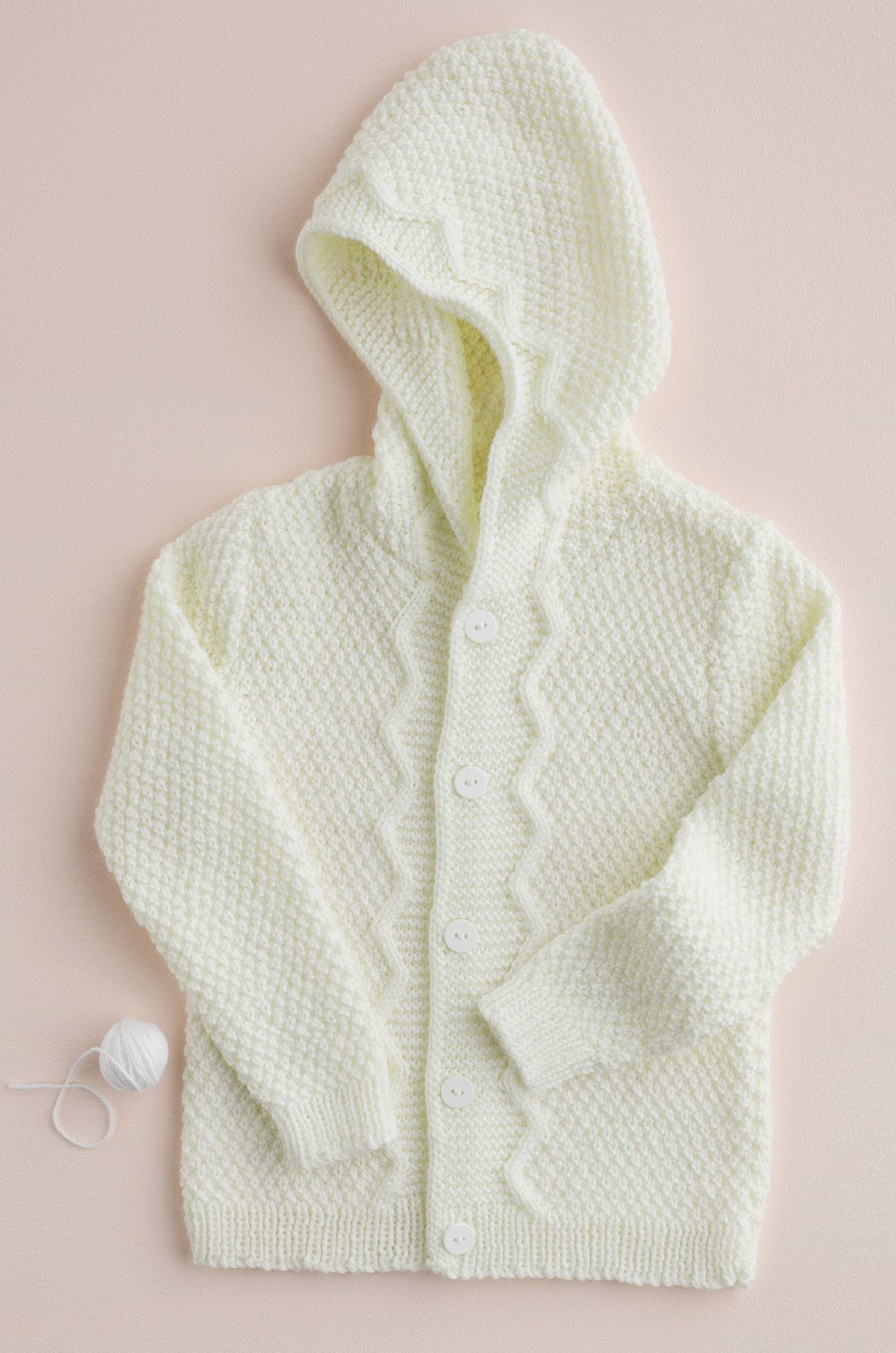 Knitted baby hoodie by Patons Australia | new from acs | Pinterest