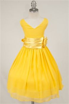 8601021c68ab yellow flower girl dress - new decade favorite wedding color ...