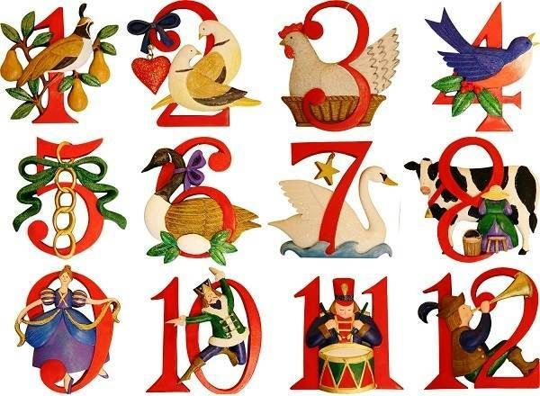 twelve 12 days of christmas images printable free download crafts rh pinterest com Twelve Days of Christmas School Vintage Twelve Days of Christmas Clip Art