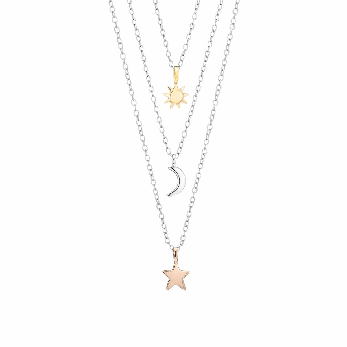 Grandma mama me sun moon and star charm necklace in