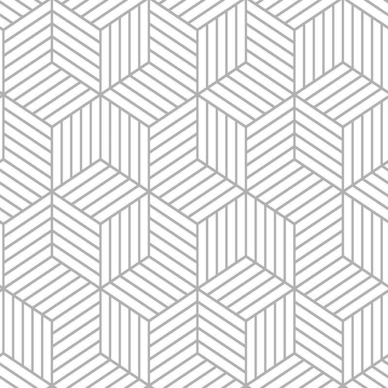 Rumsey Stripped Hexagon 16 5 L X 20 5 W Geometric Peel And Stick Wallpaper Roll Peel And Stick Wallpaper Peelable Wallpaper Wallpaper Roll