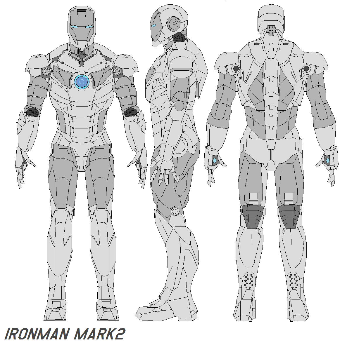 ironman mark 2 live action film officially released image of the films final version of the suit three types of iron man armor appear in the ironman mark