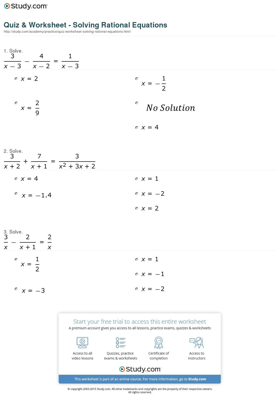 Stratagempurple Solving Equations Worksheet