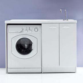 Mobile lavanderia portalavatrice 124x61 Lady 3 ante con