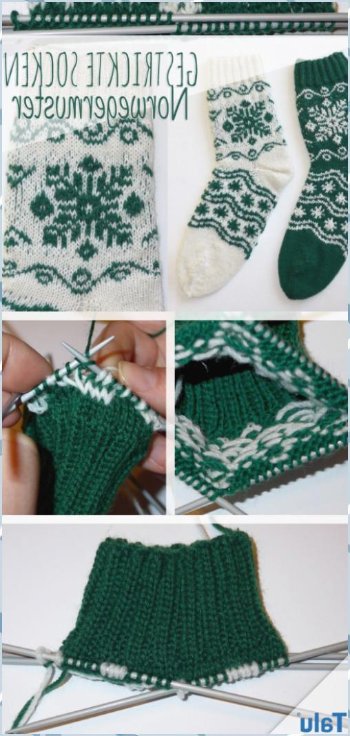 Photo of RundstrickenGestrickte Socken: Norwegermuster betroffen | Kostenlose Strickanlei…