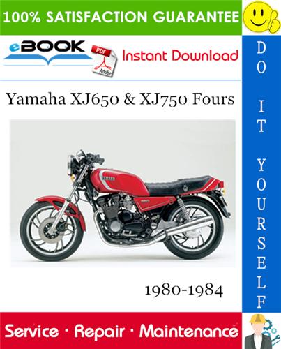 Yamaha Xj650 Xj750 Fours Motorcycle Service Repair Manual 1980 1984 Download In 2020 Repair Manuals Yamaha Repair