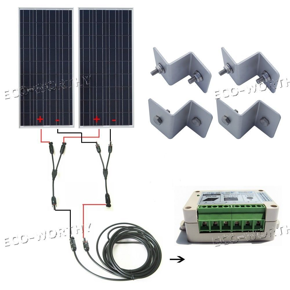 Complete Kit 100w 200w 300w 400w 500w 600w Solar Panel Rv Boat Off Grid System Home Amp Garden Home Impro Off Grid System Solar Panels Solar Power System