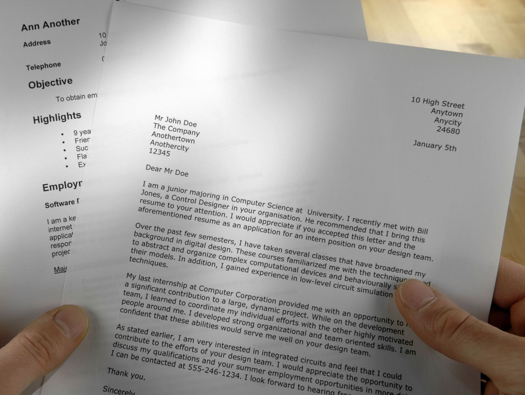 Sample Cover Letter for Your Resume | Cover letter sample and Letter ...