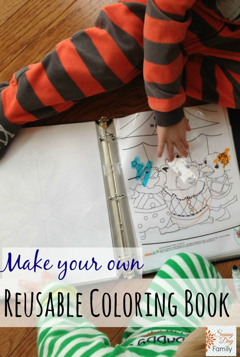 Diy Reusable Coloring Book Plus 100 Free Coloring Pages Diy Coloring Books Toddler Coloring Book Coloring Books