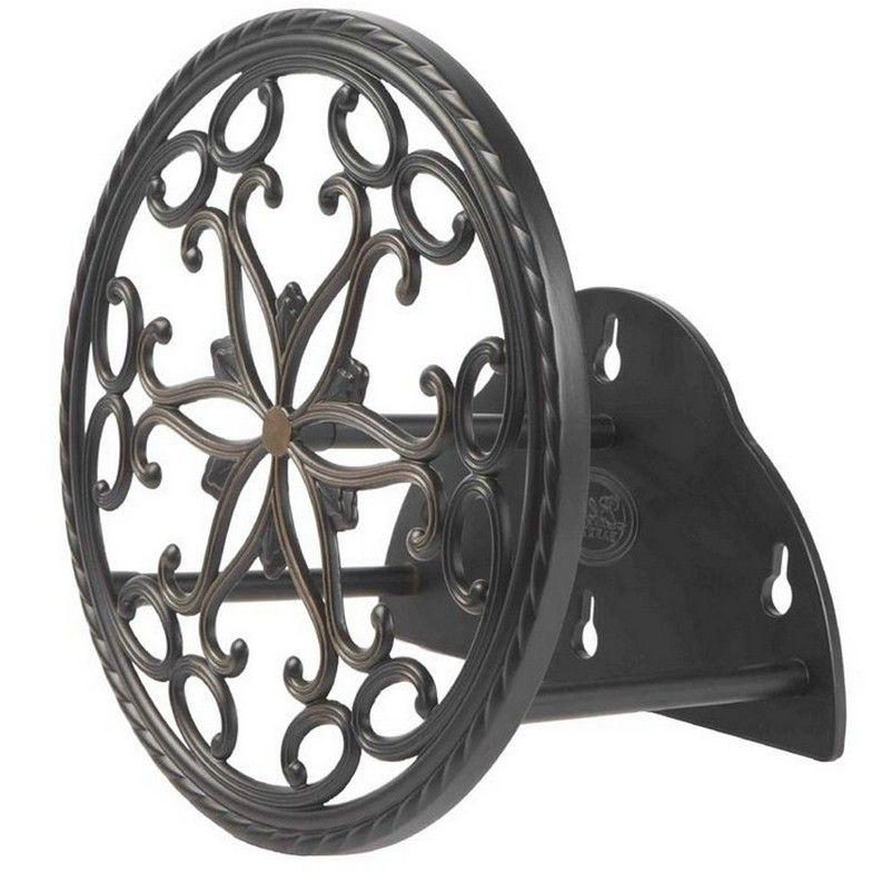 Wall Mount Garden Hose Reel Design  sc 1 st  Pinterest & Wall Mount Garden Hose Reel Design | Wrought Iron Wall Decor ...