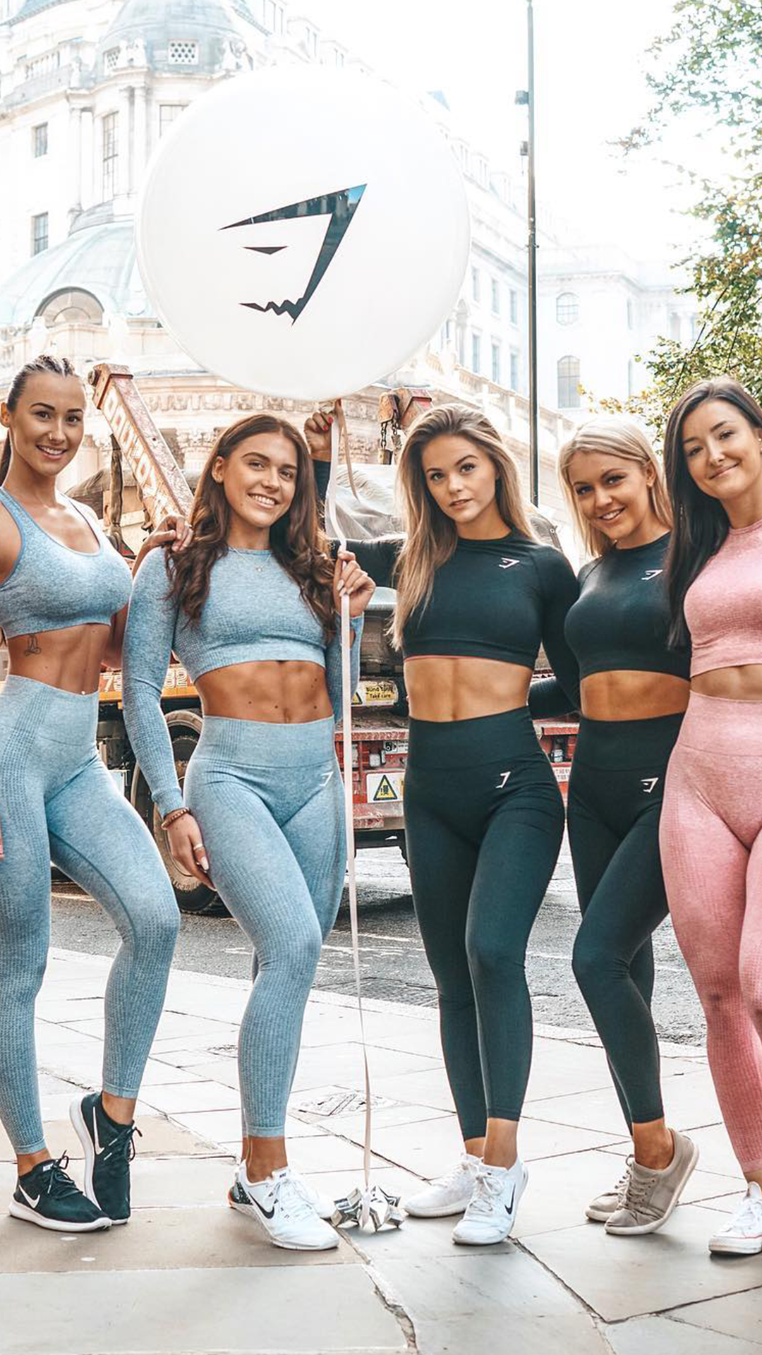 48e1f543c5234 The gals sportin' the Vital Seamless set in Steel Blue, Black and Dusky  Pink! What a team! #Gymshark #Gym #Sweat #Train #Perform #Seamless  #Exercise ...