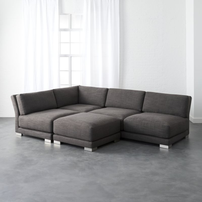 Shop Gybson 4 Piece Earth Grey Sectional Sofa Designed By