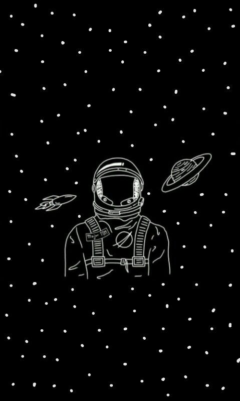 astronaut space background drawing - photo #16