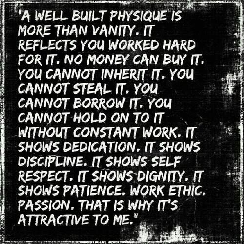 A Well Built Physique Is More Than Vanity. #fitness #workout #motivation