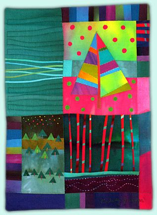 Melody Johnson: Art Quilts - Galleries - Pine Tree Series | Quilt ... : quilt photos galleries - Adamdwight.com