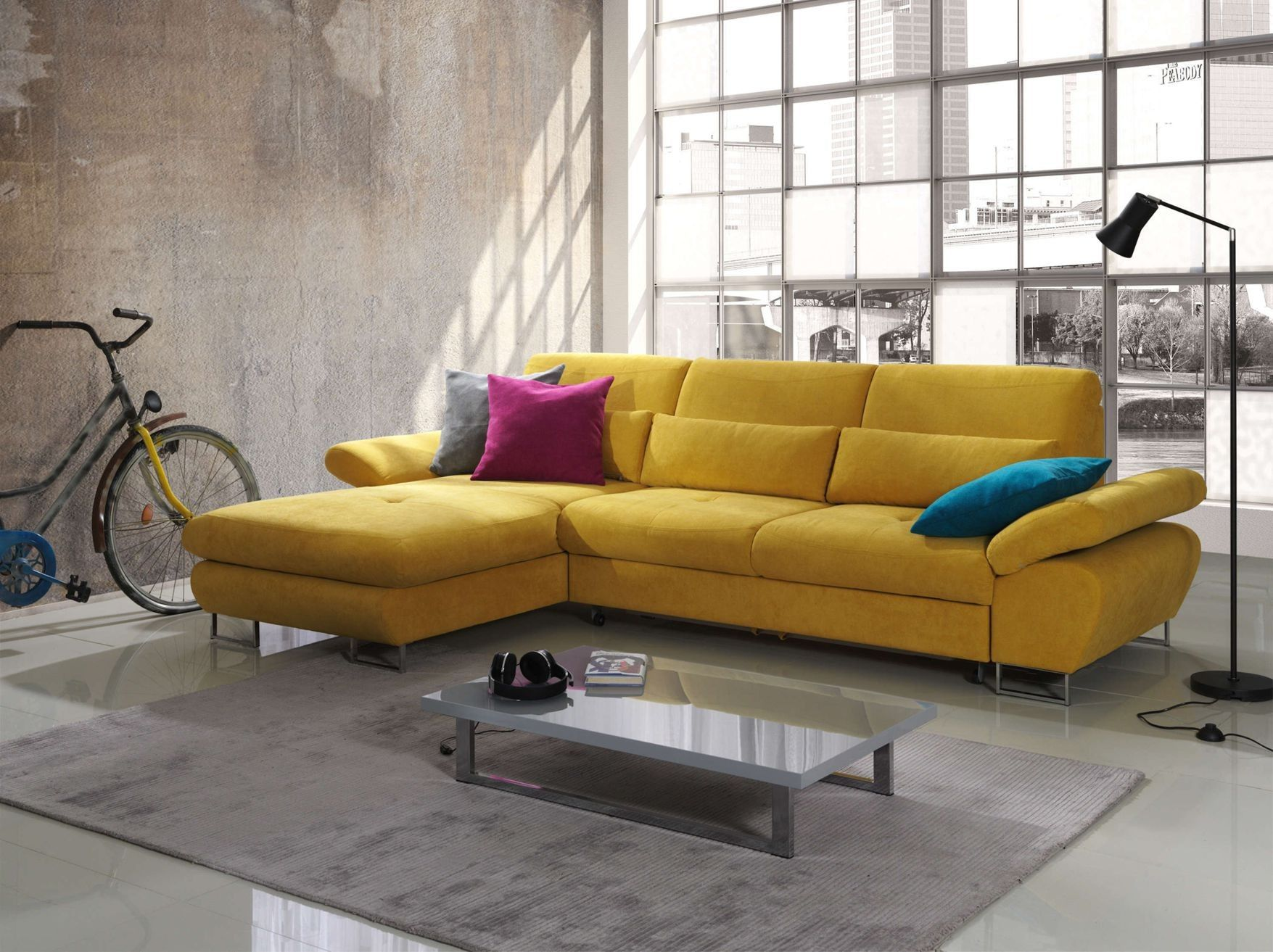 representation of sectional sofa sleepers for better sleep quality and comfort - Yellow Couch