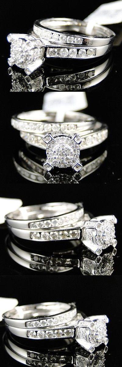Wedding rings: Ladie  Wedding rings: Ladies Womens Round White Gold Diamond Engagement Bridal Wedding Ring Set 1 Ct -> BUY IT NOW ONLY: $849.99 on eBay!