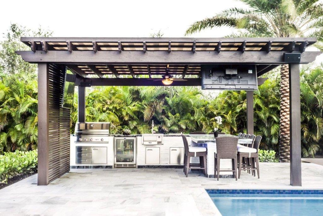 Custom Pergolas Miami Fort Lauderdale The Patio District Pergola Backyard Patio Pergola Lighting