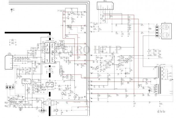Cl21a551 Samsung Crt Tv â Circuit Diagram â Tda12120h (smd