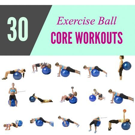 fitness ball core stability exercises  google search