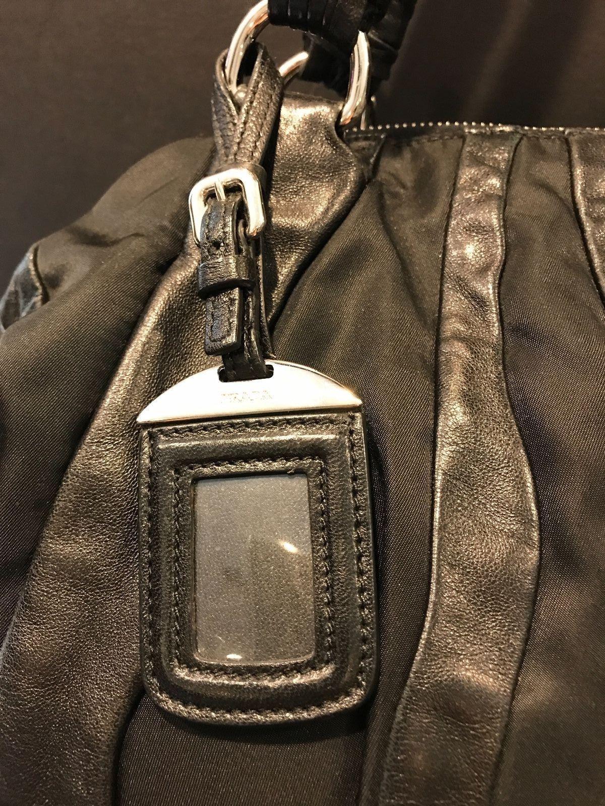 19fd485b4a14 Authentic Prada Black Nylon   Leather Bag! Beautiful!  650.0