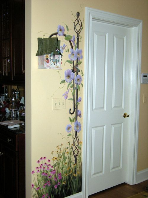 Hand Painted Wall Art hand painting - hand paint wall | decorating: sewing room