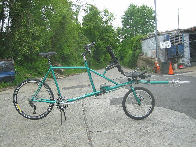 Semi recumbent tandem bike