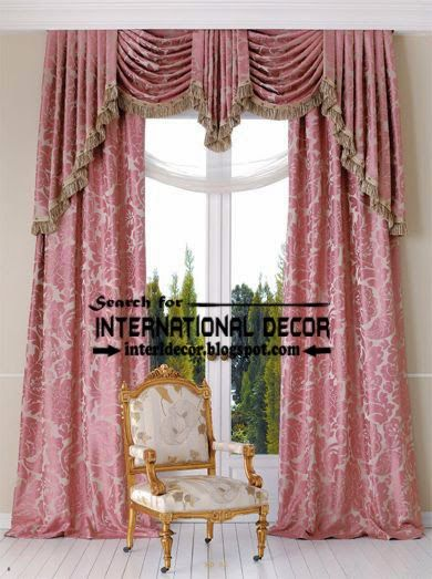Stylish Bedroom Curtain And Drapes Romantic Style Curtain