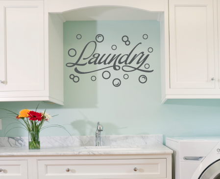wall decal | laundry room ideas | laundry room decals, laundry room
