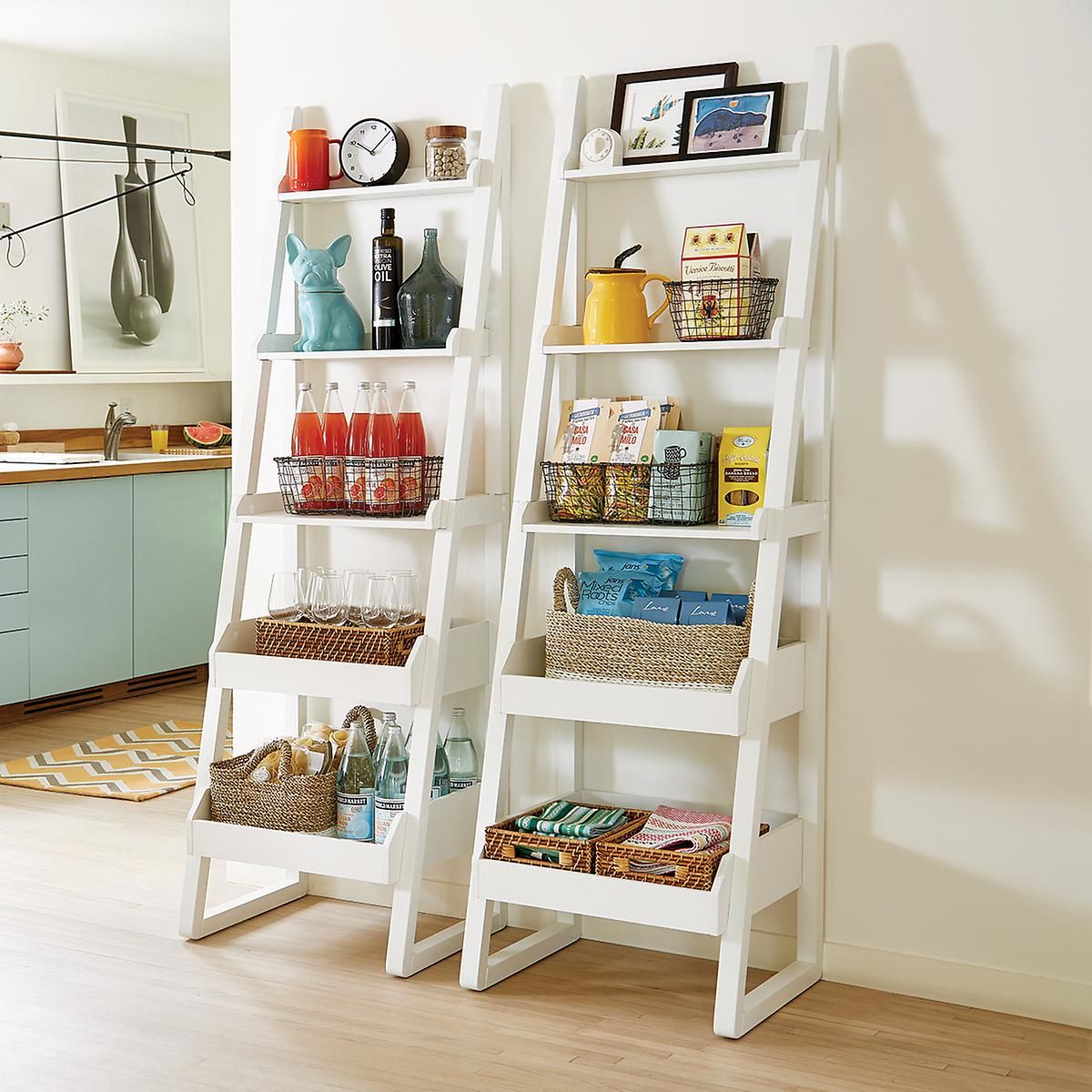 White Encore Narrow Bookshelf Narrow Bookshelf Colorful Apartment Decor Apartment Decor