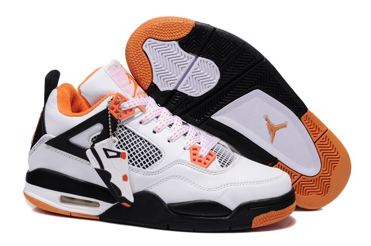 Buy Netherlands 2013 New Nike Air Jordan 4 Iv Mens Shoes White Orange from  Reliable Netherlands 2013 New Nike Air Jordan 4 Iv Mens Shoes White Orange  ...