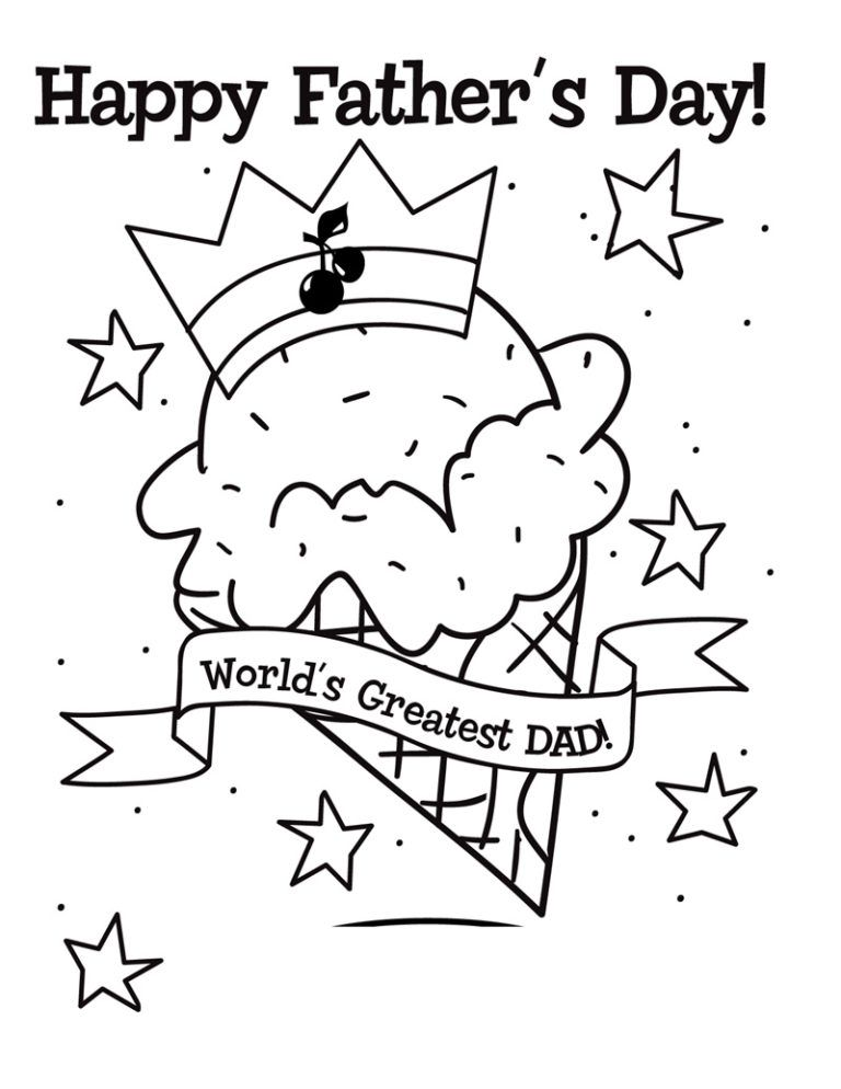 Fathers Day Coloring Pages Fathers day coloring page