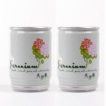 Flower In A Can Geranium Pair, $15, now featured on Fab.  Great gift idea