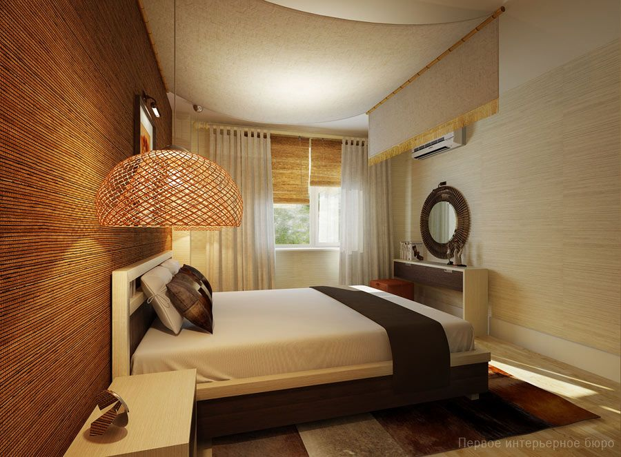 Wonderful Small Apartment Decorating Ideas With Natural Rattan Pendant Lamp At Small  Apartment Bedroom Ideas With Simplistic