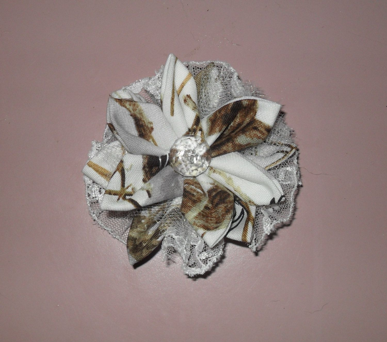 Diy camo wedding decorations  True Timber White Snow camo country cuties hair clips Ready to