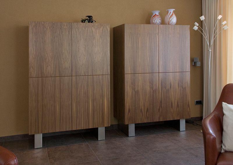 Matim Interieur. Woonkamer kasten in notenhout - Kasten / bureau ...