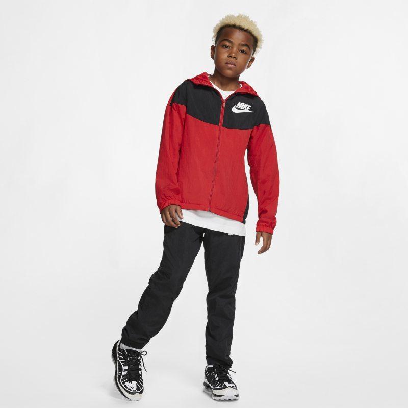 Nike Sportswear Older Kids' Woven Jacket Red | Products in