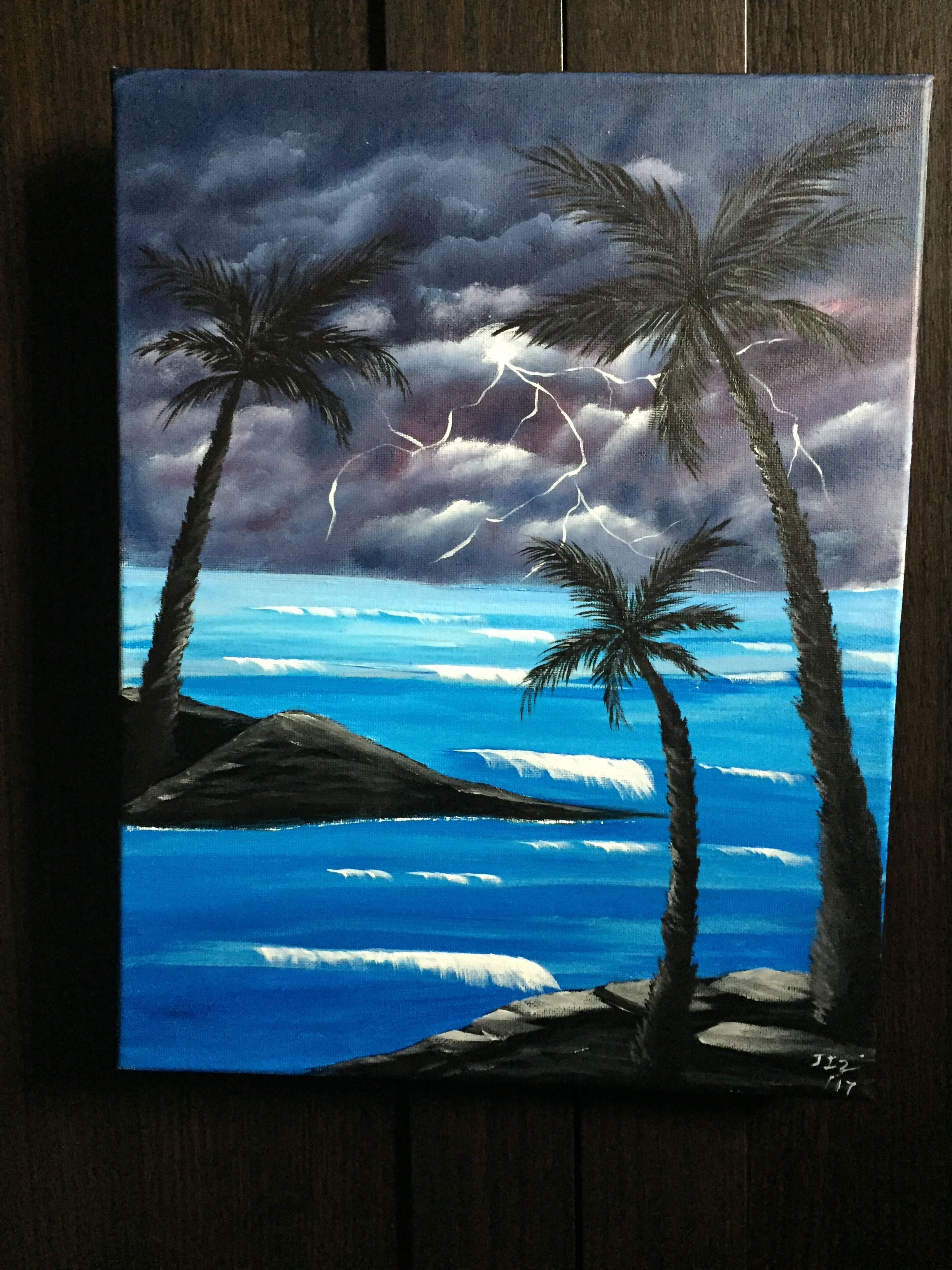 Storm Acrylic Painting on Canvas