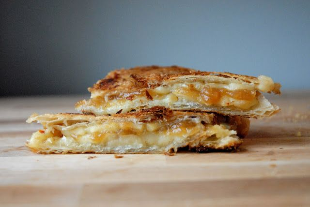 croissant, Tillamook Pepper Jack Cheese, apple butter