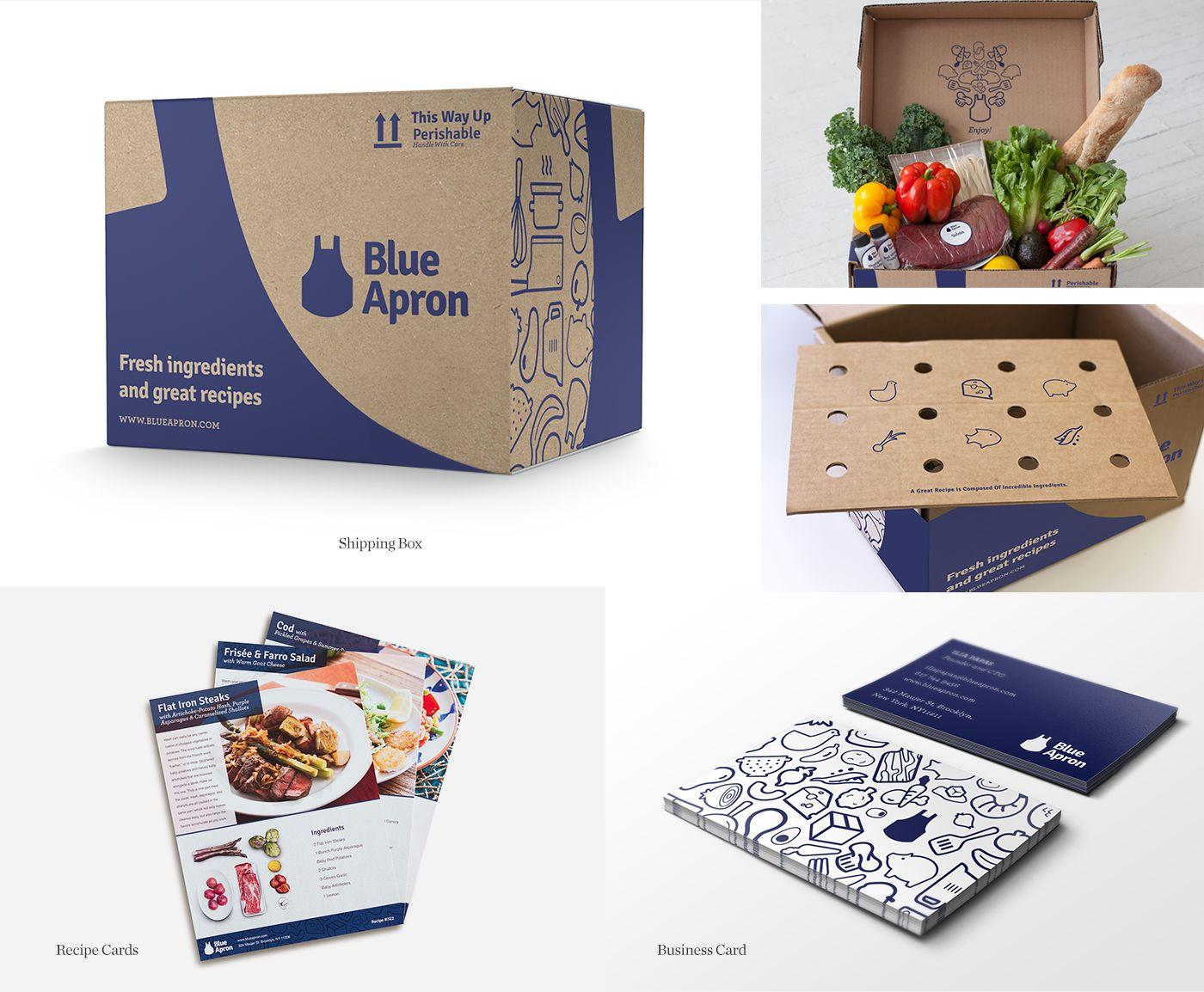 Blue Apron Packaging Design Blue Apron Packaging Corrugated Box Design Packing Box Design