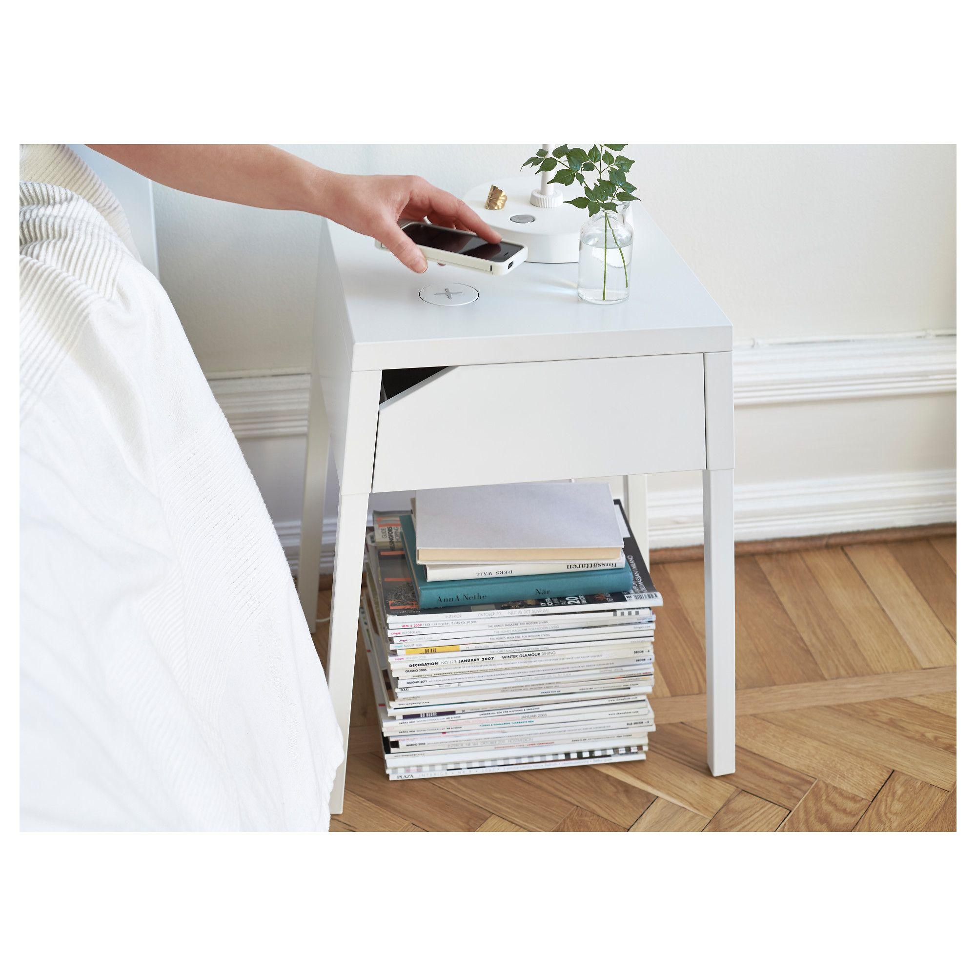 Ikea selje bedside table w wireless charging girls room