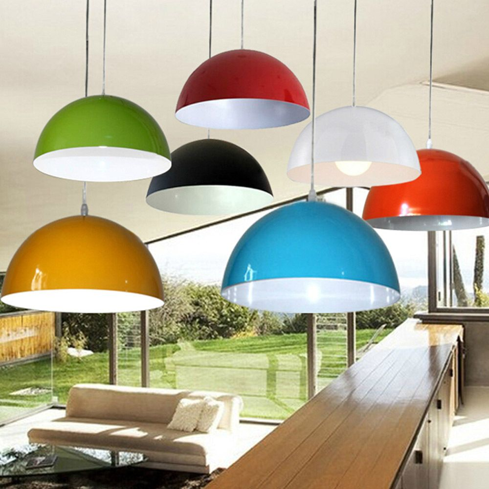 Lamp G9 Picture More Detailed Picture About Dia 36cm Aluminum Modern Brief Multi Colorful Pendant Lamp Metal Lamp Shade Painting Lamp Shades Wall Lamp Shades
