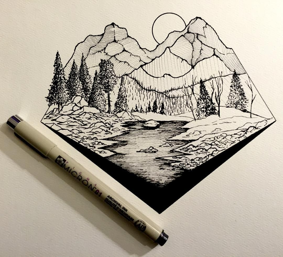 Drawing dailydrawings illustration ink inkdrawing landscape geometry artofdrawingg iblackwork art spotlight artshelp art artoftheday artistic