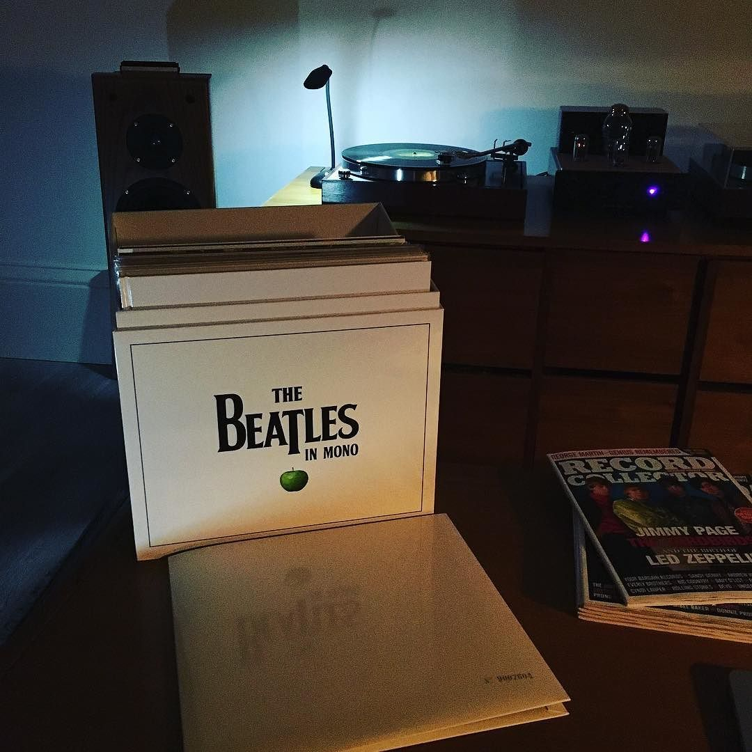 An evening spent listening to the #beatles mono box set on a mono