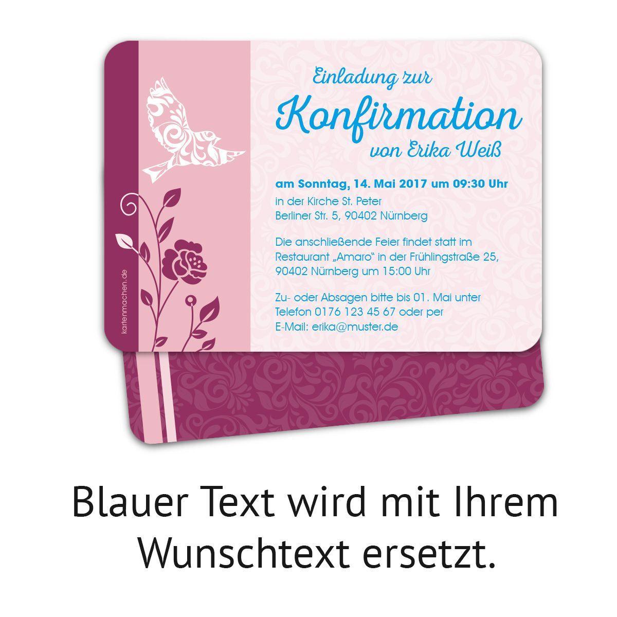 Einladung Konfirmation Vorlage Word Einladung Konfirmation Spruche Einladung Konfirmation Selber Einladung Konfirmation Einladungen Einladungskarten Gestalten