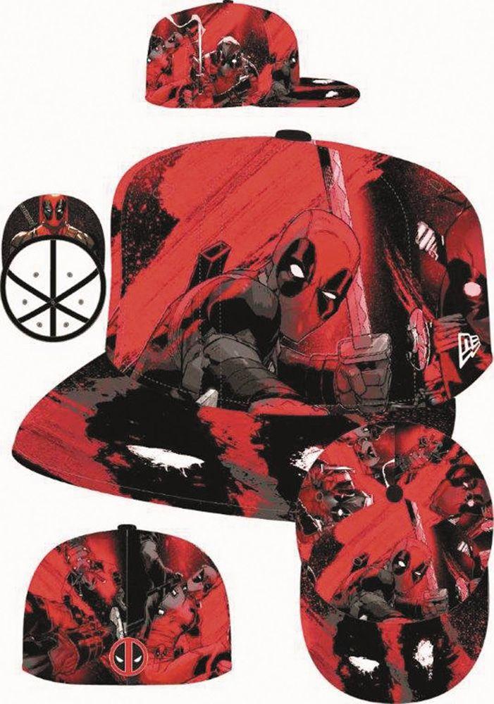 Image  Deadpool All Over 5950 Fitted Cap (7 3 8) - New Era Cap Co ... eb4f96e628d