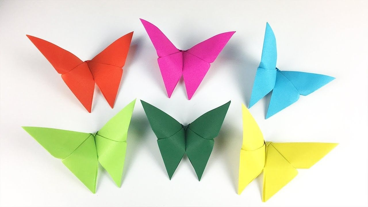 Photo of CRAFTS FOR KIDS WITH PAPER: ORIGAMI BUTTERFLY ????