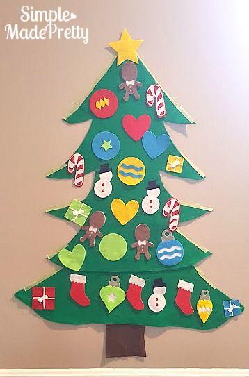 DIY Felt Christmas Tree Ornaments with Free Cricut Cut File