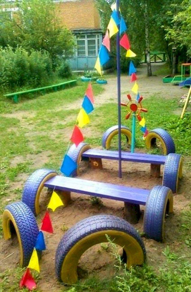 Creative and cute backyard garden playground for kids 9